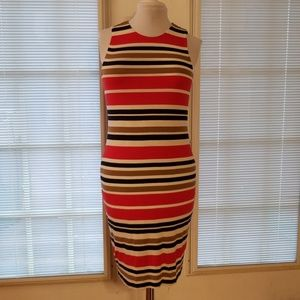 Vince Camuto Striped Sleeveless Dress